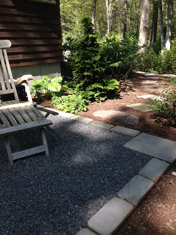 simple crushed stone patio location - Crushed Stone Patio